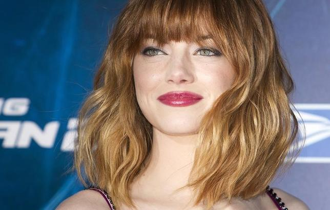 Actress Emma Stone arrives for ''The Amazing Spider-Man 2'' premiere in New York April 24, 2014.  REUTERS/Carlo Allegri