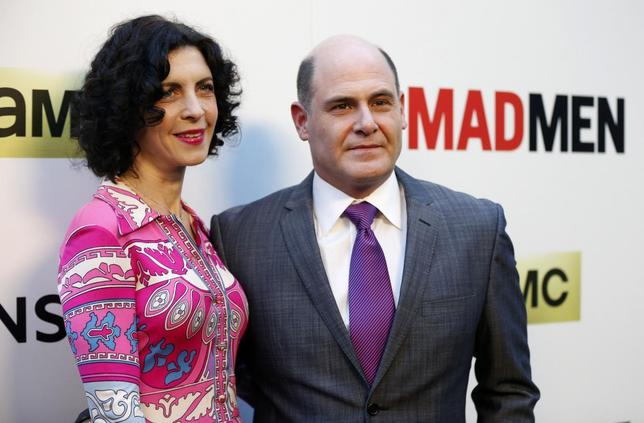 Creator of the show Matthew Weiner and his wife Linda Brettler pose at the premiere for the seventh season of the television series ''Mad Men'' in Los Angeles, California in this file photo taken April 2, 2014. REUTERS/Mario Anzuoni