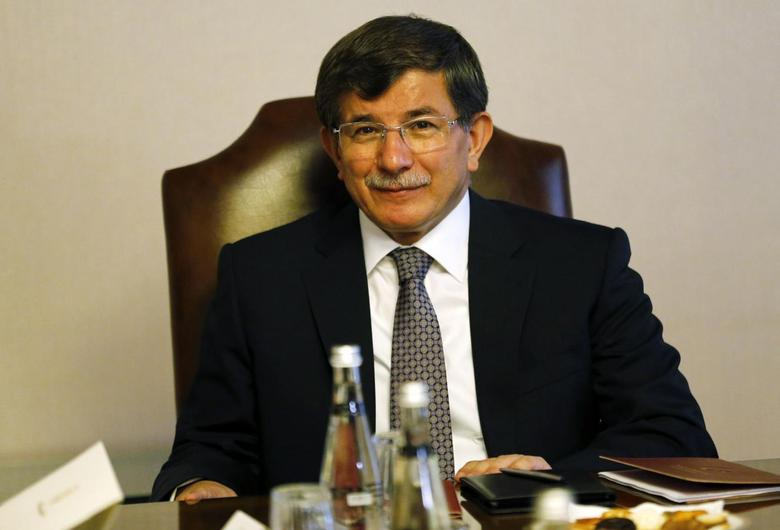 Turkey's Foreign Minister Ahmet Davutoglu attends a meeting in Ankara August 20, 2014.  REUTERS/Umit Bektas
