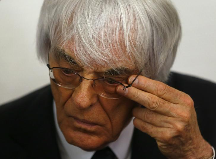 Formula One Chief Executive Bernie Ecclestone in Munich August 5, 2014. REUTERS/Michael Dalder