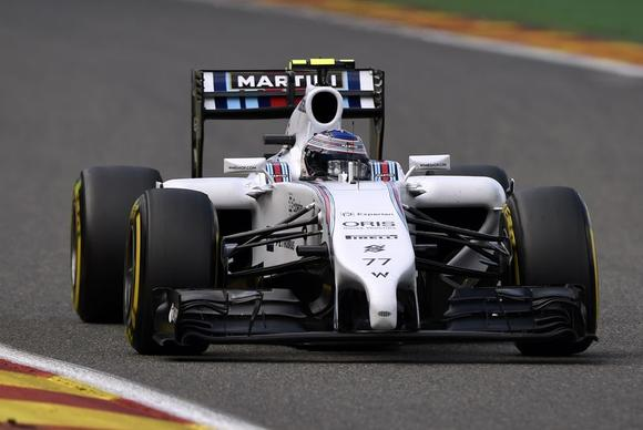Williams Formula One driver Valtteri Bottas of Finland drives the track during a practice session at the Belgian F1 Grand Prix in Spa-Francorchamps August 23, 2014.   REUTERS/Laurent Dubrule