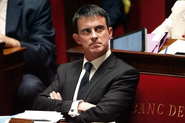 French Prime Minister Manuel Valls attends the questions to the government session at the National Assembly in Paris, July 15, 2014. REUTERS/Charles Platiau