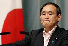 Secretário-chefe do gabinete japonês, Yoshihide Suga. 29/05/2014 REUTERS/Yuya Shino