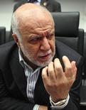 Imagen de archivo del ministro de Petróleo de Irán, Bijan Zanganeh, en una rueda de prensa antes de una reunión de la OPEP en Viena, jun 11 2014.  Zanganeh dijo el martes que los actuales precios del crudo son apropiados y que su reciente caída sería breve. REUTERS/Heinz-Peter Bader