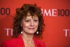 Actress Susan Sarandon arrives at the Time 100 gala celebrating the magazine's naming of the 100 most influential people in the world for the past year in New York April 29, 2014. REUTERS/Lucas Jackson