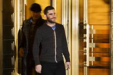 Bitcoin Foundation Vice Chairman Charlie Shrem exits the Manhattan Federal Courthouse in New York January 27, 2014.  REUTERS/Lucas Jackson