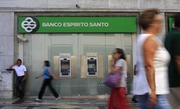Agência do Banco Espírito Santo no centro de Lisboa. 30/06/2014. REUTERS/Rafael Marchante