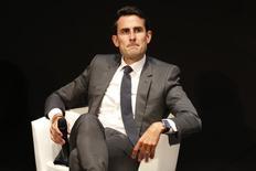 Thomas Reynaud, directeur financier d'Iliad.  L'opératur s'est montré prêt à faire évoluer son offre sur l'opérateur américain T-Mobile US, jusque-là boudée par son propriétaire Deutsche Telekom, tout en fixant les limites de l'effort financier qu'il serait prêt à consentir. /Photo prise le 1er septembre 2014/REUTERS/Charles Platiau