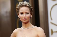Atriz Jennifer Lawrence durante cerimônia do Oscar, em 2 de março.     REUTERS/Lucas Jackson