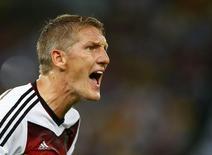 Jogador alemão Bastian Schweinsteiger durante partida da Copa do Mundo no Brasil.  REUTERS/Eddie Keogh