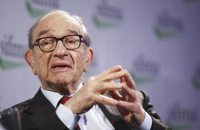 Former Fed Chairman, Alan Greenspan, speaks during the SIFMA annual meeting in New York, October 23, 2012. REUTERS/Lucas Jackson