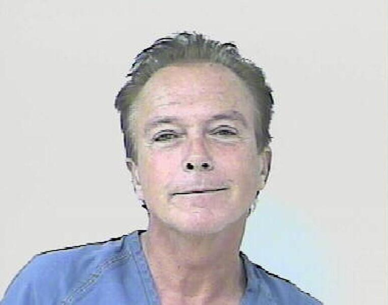 Entertainer David Cassidy is shown after his arrest in St. Lucie County, Florida November 3, 2010 in this handout photo released to Reuters November 4, 2010. REUTERS/St. Lucie County Sheriffs Department/Handout