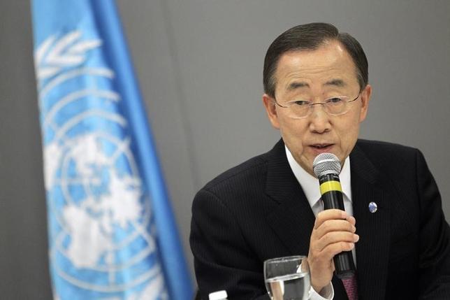 U.N. Secretary-General Ban Ki-moon attends a news conference in Brasilia, June 17, 2011. REUTERS/Ueslei Marcelino/Files