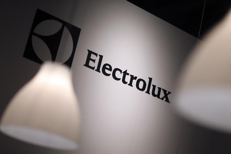 The Electrolux logo is seen during the IFA Electronics show in Berlin September 4, 2014.  REUTERS/Hannibal Hanschke
