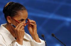 Candidata à Presidência dlo PSB, Marina Silva, durante debate na  Band. 26/8/2014  REUTERS/Paulo Whitaker