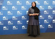 Iraniana Rakhshan Bani-Etemad no Festival de Veneza em foto de 28 de agosto.  REUTERS/Tony Gentile