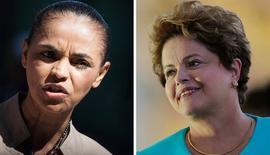 Combinação de fotos de arquivo de Marina Silva e Dilma Rousseff.  REUTERS/Bruno Santos (esquerda) e REUTERS/Ueslei Marcelino