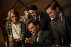 "(L-R) Keira Knightley, Matthew Beard, Matthew Goode, Benedict Cumberbatch, and Allen Leech star in ""The Imitation Game."" REUTERS/Jack English/The Weinstein Company/Handout"