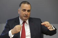 Marwan Lahoud, Chief Strategy and Marketing Officer of Airbus Group, gestures as he speaks during an interview with Reuters in Paris, March 26, 2014. REUTERS/Philippe Wojazer