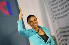 Candidata do PSB à Presidência, Marina Silva, durante evento no Rio de Janeiro. 17/09/2014.  REUTERS/Ricardo Moraes