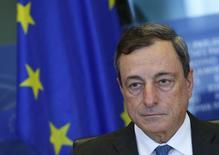 Presidente do BCE, Mario Draghi, em comitê do Parlamento Europeu em Bruxelas. 22/09/2014 REUTERS/Yves Herman