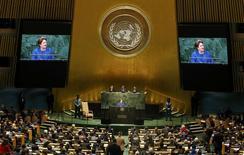 Presidente Dilma Rousseff discursa em assembleia da ONU em Nova York. REUTERS/Mike Segar