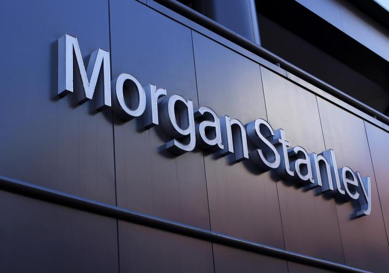 The corporate logo of financial firm Morgan Stanley is pictured on a building in San Diego, California, in this September 24, 2013, file photo.    REUTERS/Mike Blake/Files