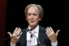 Bill Gross, que está deixando a gestora de recursos Pimco, fala durante conferência em Chicago. REUTERS/Jim Young