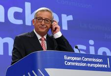 Jean-Claude Juncker, the incoming president of the European Commission (EC), presents the list of the European Commissioners and their jobs for the next five years, during a news conference at the EC headquarters in Brussels September 10, 2014.   REUTERS/Yves Herman