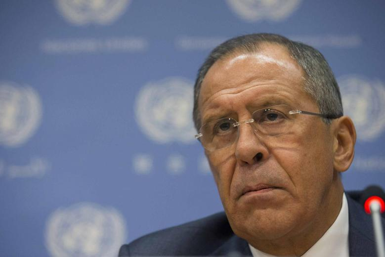 Russian Foreign Minister Sergei Lavrov speaks during a news conference on the sidelines of the the 69th U.N. General Assembly at U.N. Headquarters in New York, September 26, 2014. REUTERS/Brendan McDermid