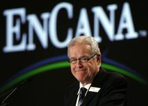 David O'Brien, EnCana Corporation Chairman of the Board, smiles during the company's annual general meeting of shareholders in Toronto April 22, 2008.  REUTERS/ Mike Cassese