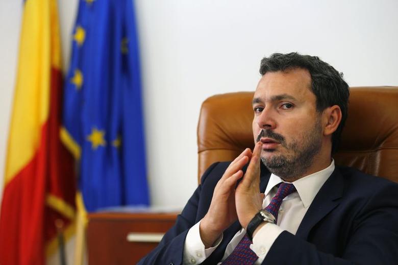 Romania's Energy Minister Razvan Nicolescu gestures during the Reuters Eastern Europe Investment Summit in Bucharest October 1, 2014. REUTERS/Bogdan Cristel