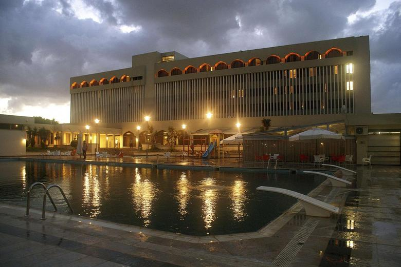 A general view of the Dar al Salam, a five-star hotel being used by members of the House of Representatives, in Tobruk September 28, 2014. REUTERS/Stringer