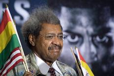 Boxing promoter Don King attends a news conference at the Hard Rock Hotel and Casino in Las Vegas, Nevada in this file photo taken July 14, 2011.  REUTERS/Las Vegas Sun/Steve Marcus