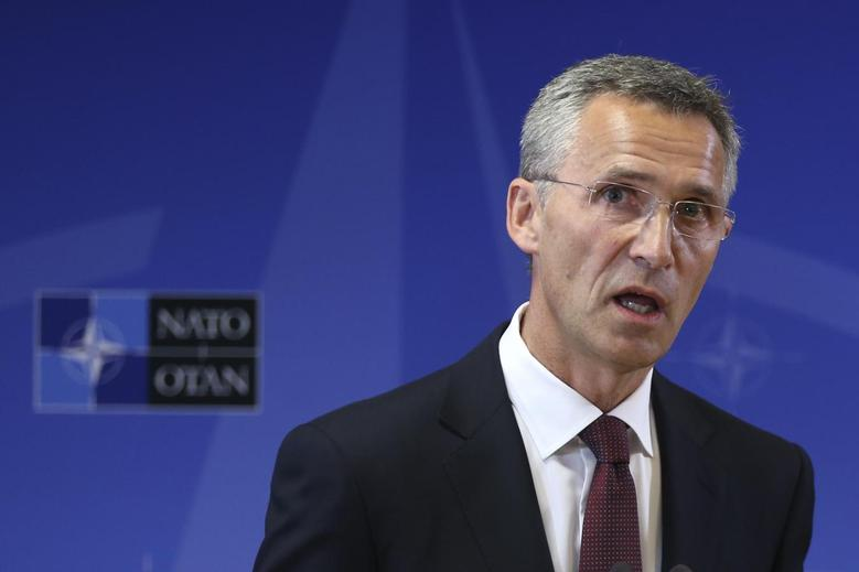 New NATO Secretary General Jens Stoltenberg of Norway addresses a news conference at the Alliance headquarters in Brussels October 1, 2014.   REUTERS/Francois Lenoir