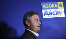 Aécio Neves (PSDB) concede entrevista em São Paulo nesta segunda-feira.  REUTERS/Nacho Doce
