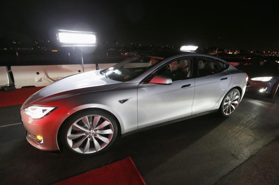 Worksheet. Tesla unveils allwheel drive Model S autopilot features