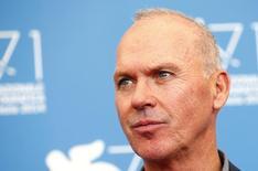 """Ator norte-americano Michael Keaton em exibição do filme """"Birdman"""" no Festival de Veneza. 27/08/2014 REUTERS/Tony Gentile"""