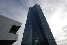 General view of the new headquarters of the European Central Bank (ECB) during a guided media tour in Frankfurt October 21, 2014.   REUTERS/Ralph Orlowski