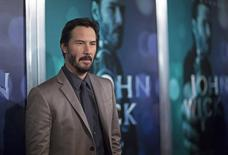 "Cast member Keanu Reeves poses at a special screening of ""John Wick"" in Los Angeles, California October 22, 2014. REUTERS/Mario Anzuoni"