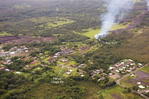 Hawaii's creeping lava