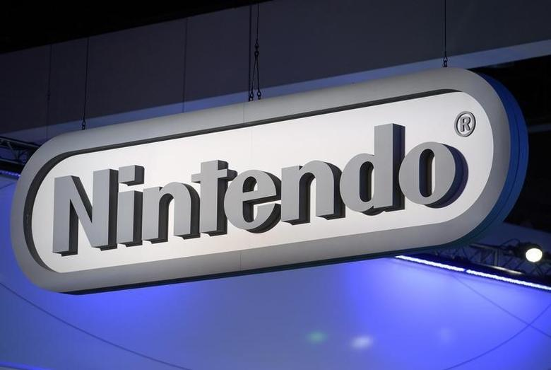 Nintendo signage is displayed at the company's booth at the 2014 Electronic Entertainment Expo, known as E3, in Los Angeles, California June 11, 2014.   REUTERS/Kevork Djansezian
