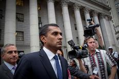 Mathew Martoma, former portfolio manager at SAC Capital Advisors LP, exits the U.S. District Court for the Southern District of New York, following sentencing for insider trading, in Lower Manhattan September 8, 2014.  EUTERS/Brendan McDermid