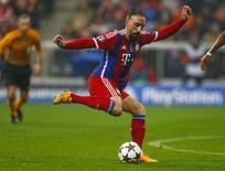 Franck Ribéry, do Bayern de Munique, durante vitória sobre a Roma pela Liga dos Campeões. 05/11/2014 REUTERS/Michael Dalder