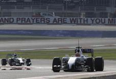 Brasleiro Felipe Nasr, piloto de testes da Williams, durante treino no Barein. 09/04/2014 REUTERS/Hamad I Mohammed