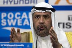 Xeique do Kuweit Ahmad Al-Fahad Al-Sabah, presidente do Conselho Olímpico da Ásia, em foto de arquivo. REUTERS/Rob Dawson