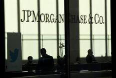 JP Morgan offices are seen in New York, in this file photo taken October 25, 2013.    REUTERS/Eduardo Munoz/Files