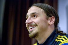 Zlatan Ibrahimovic concede entrevista em 7 de outubro de 2014 em Estocolmo.  REUTERS/Janerik Henriksson/TT News Agency