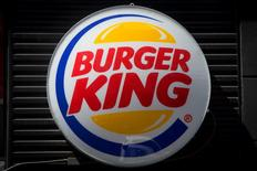 A Burger King logo is pictured in the Brooklyn borough of New York in this file photo taken August 25, 2014.   REUTERS/Carlo Allegri/Files
