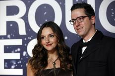 Entrepreneurs Brit and Dave Morin arrive on the red carpet during the 2nd annual Breakthrough Prize Award in Mountain View, California November 9, 2014. REUTERS/Stephen Lam